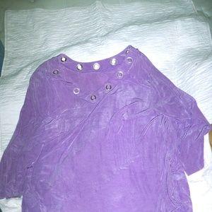 Slinky® Brand Summer in Eden Tunic Violet V-Collar